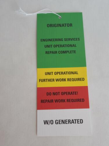 Walt Disney World Engineering Services Unused Maintenance Tag Prop