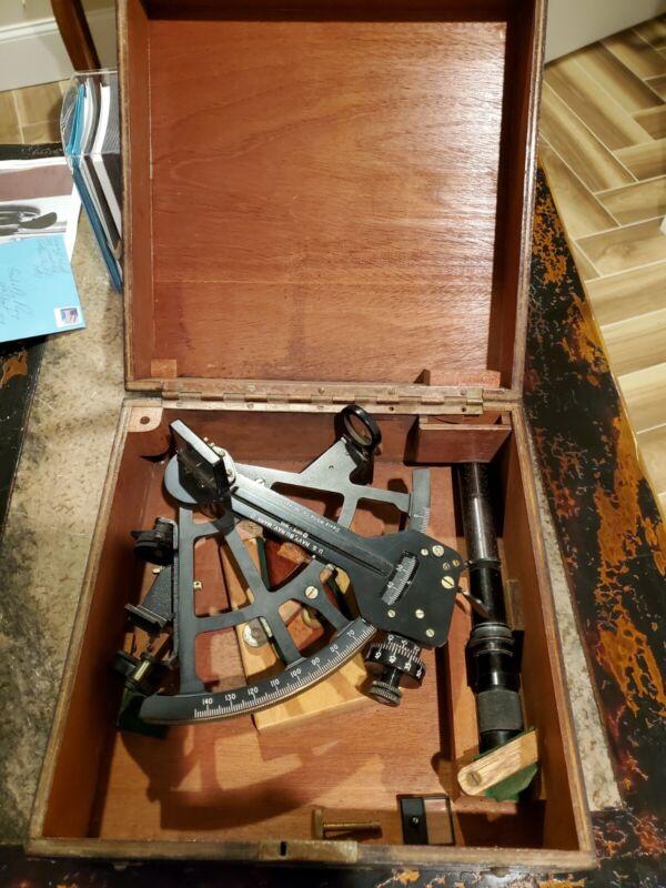 1943 U.S. Navy Nautical Sextant and Original Box