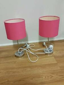 Set of 2 PINK Bedside Table Lamps Clontarf Redcliffe Area Preview