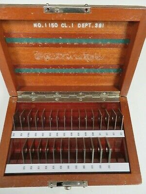 Pratt Whitneyhoke - .01-.09 Square Steel Gage Block Set - 28 Pieces - Ns37