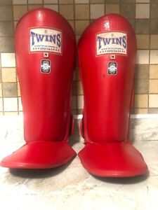 Twin Red Shin Guards