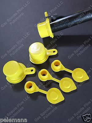 3-pack Blitz Spout Caps 3 Free Yellow Gas Can Vents Worth 5.15 Blow Out Sale