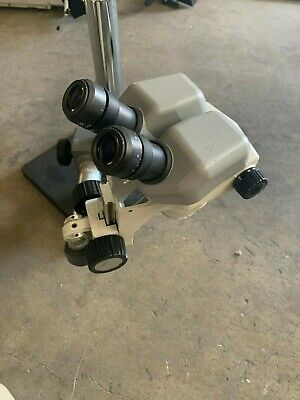 Nikon Smz-645 Stereo Zoom Microscope 8-50x On Boom Stand 10x22 Eye Pieces
