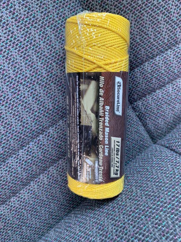 Braided Mason Line 500ft Yellow, #18 SecureLine BNT1850grl6-6 New