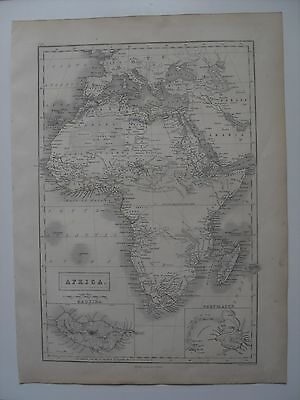 Map of Africa  - 43½ cm x 32 cm (17¼
