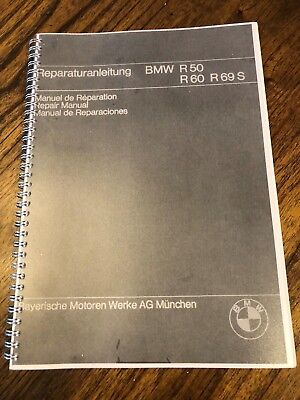 NEW VINTAGE BMW  R50-R69S MOTORCYCLE WORKSHOP MANUAL COPY OF ORIG. 4 LANGUAGES for sale  Shipping to Canada