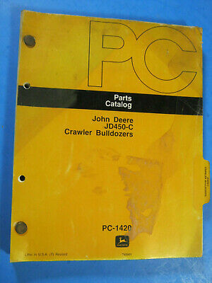 John Deere 450c Crawler Bulldozer Parts Catalog Pc 1420 1978