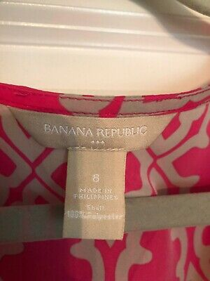 Banana Republic Maxi Wrap dress pink, grey 8 medium