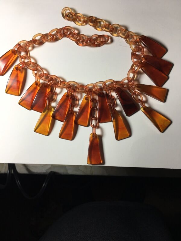 Vintage Celluloid Bakelite Tigers Claw Necklace