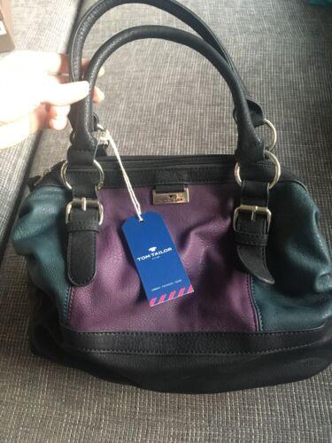 Tom Tailor Damen Bowlingtasche Acc Juna, neu, lila-petrol-schwarz