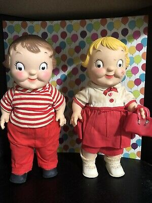 Vintage Campbell Soup Kids Dolls 1972-2 Different Doll Lot RARE Promotional