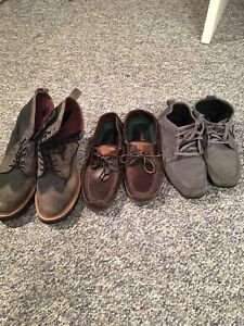 A few pairs of shoes/boots