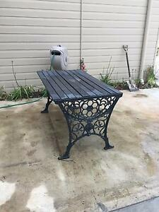 Cast iron and timber table Kurrajong Hawkesbury Area Preview