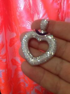 White gold diamond heart pendant 7.48 carat diamond weight Helensvale Gold Coast North Preview
