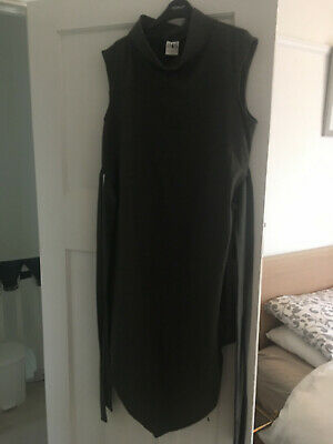 House of Sunny grey high collar reversible tie waist dress size 12