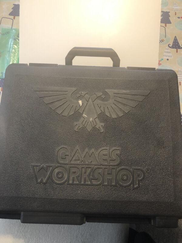 Games Workshop Black Hard Plastic Army Carrying Case Warhammer 40k Etc Minis 108