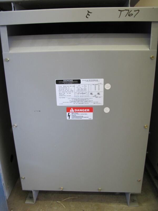 Siemens 3F3Y030K13C 30 KVA, 3 Phase, 480 X 120/208 Transformer Copper N/S- T767