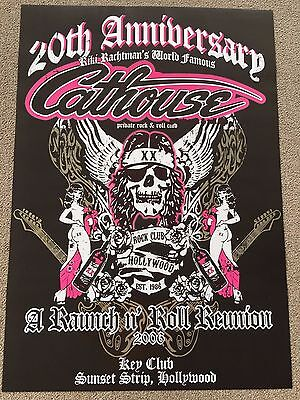 Cathouse 20th Anniversary Poster Hollywood Sunset Strip 1986 Glam Hairbands 80s