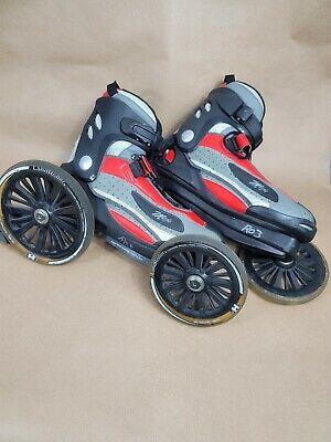 LandRoller Mojo Skates Red Black Silver Men's Size 9 Women's Size 10