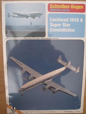 Lockheed 1649 A Super Star Constellation Schreiber-Bogen Kartonbausatz *NEU*
