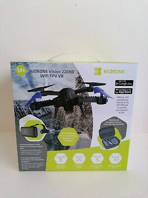 MIDRONE VISION 220 HD WiFi DRONE QUADCOPTER iOS ANDROID VR GOGGLES