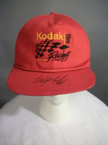 VINTAGE NASCAR STERLING MARLIN #4 KODAK Racing Signed 90'S Hat SNAPBACK Cap