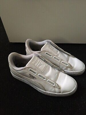 Ladies White Puma Trainers , Size 4