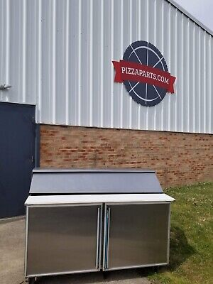 Silver King 60 Skp6016 Stainless Steel Commercial Sandwich Salad Prep Table