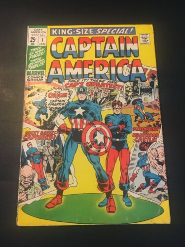 CAPTAIN AMERICA KING-SIZE SPECIAL #1 1970 MARVEL FN-