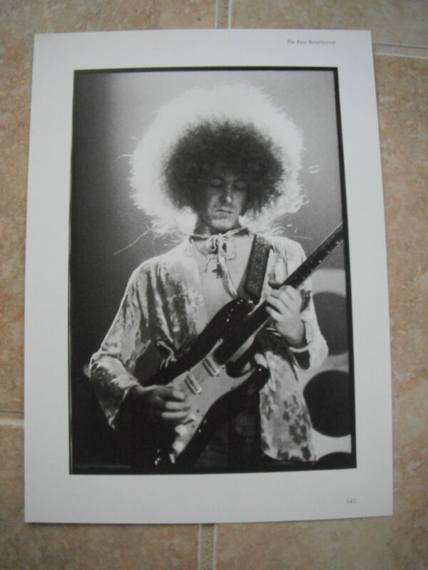 Rolling Stones Mick Taylor Vtg Candid Coffee Table Book Photo #1