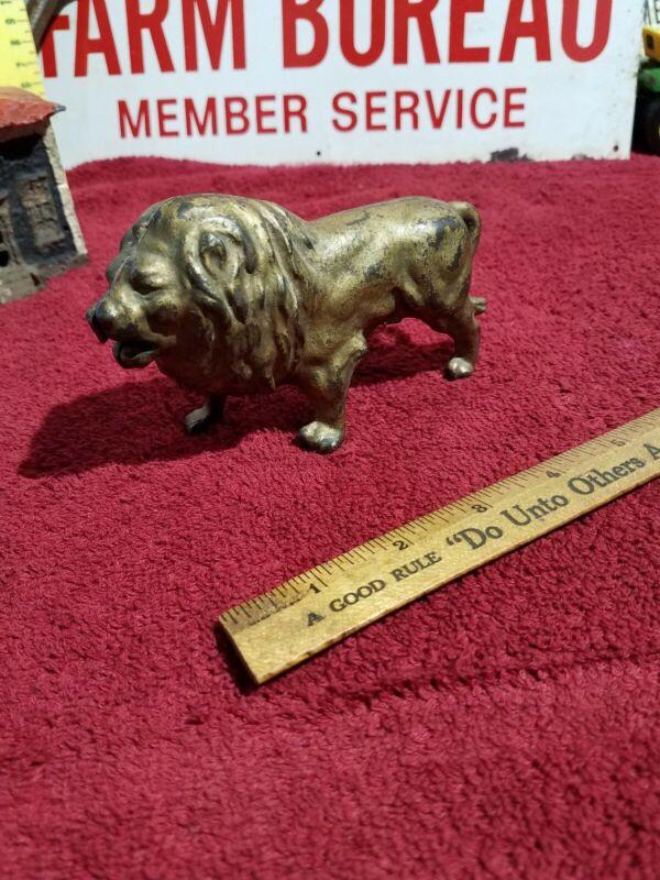 Hubley cast iron lion Bank  - Vintage Antique Still Bank Toy
