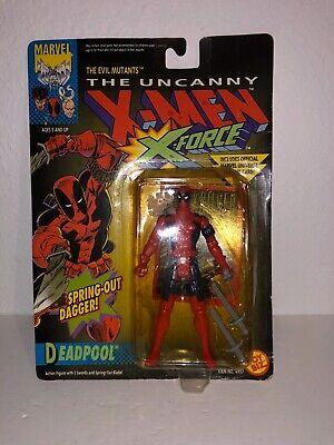 Toybiz The Uncanny X-Men X-Force Deadpool Figure With Spring Out Dagger vintage