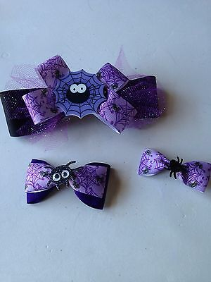 Halloween Mummy Hair (Handmade Hair Bows - Holiday - Halloween - Spider, Pumpkin, Mummy, Bat,)