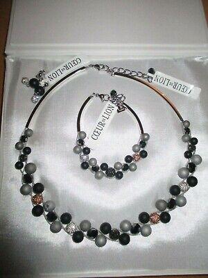 Set Coeur de Lion Halskette Ohrringe Armband Perlen - Perle Halskette Set