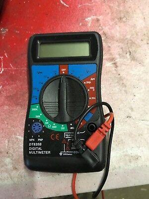 Lcd Handheld Digital Multimeter Black Model Dt820b Home Or Car - Used