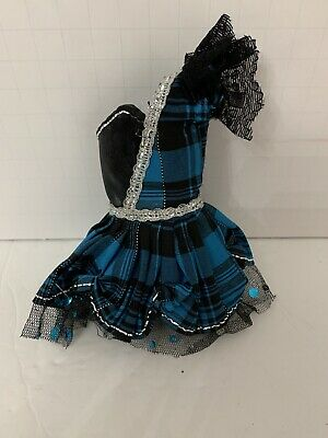 Liv Doll Or Barbie My Scene Doll Clothing Black & Blue Plaid Party Dress