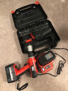 Black & Decker 18v cordless drill with 2 batteries