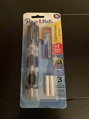 Paper Mate Clear Point Mechanical Pencil 0.7mm Assorted 3-pack