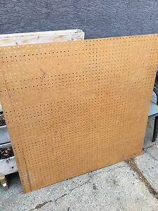 4' x 4' peg board