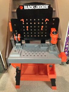 Black & Decker tool bench with accessories