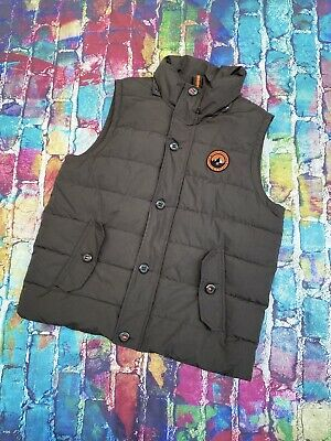 AK28 Superdry Padded Gilet Mountaineering Vest Brown Rescue Army Mens 2XL