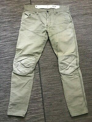 G Star Adult Mens 34 x 34 (ACTUAL 34 x 31) Slim Fit Chino Pants Green