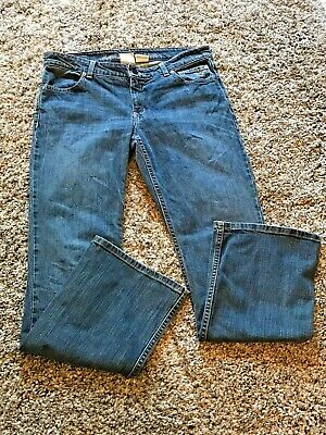 "Womens Harley Davidson Denim Blue Jeans Size 10 R Vintage 5 Pocket 32"" Inseam"