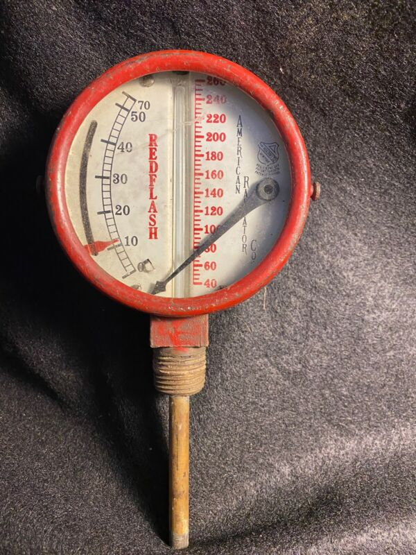vintage radiator Gage Red Flash Americsn Radiator Company