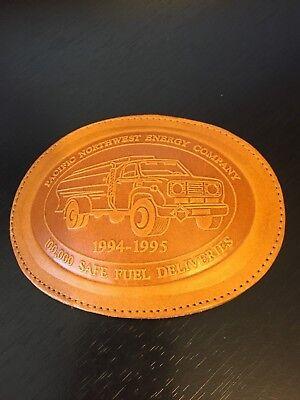 Pacific Northwest Energy Belt Buckle 1994 1995 100 000 Safe Fuel Deliveries