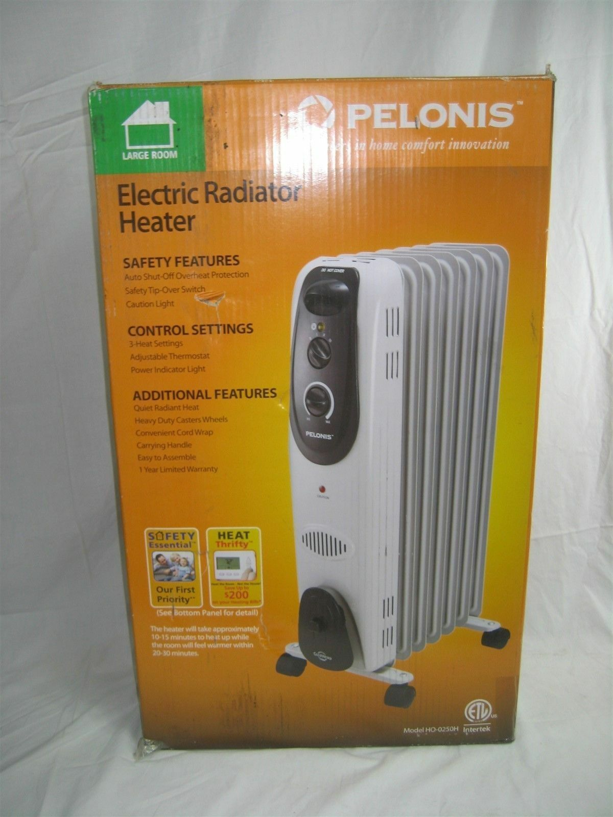 Pelonis Large Home Electric Radiator Heater 125 Amps White Ho 0250h Portable Baseboard Heaters As Well Small With Ebay