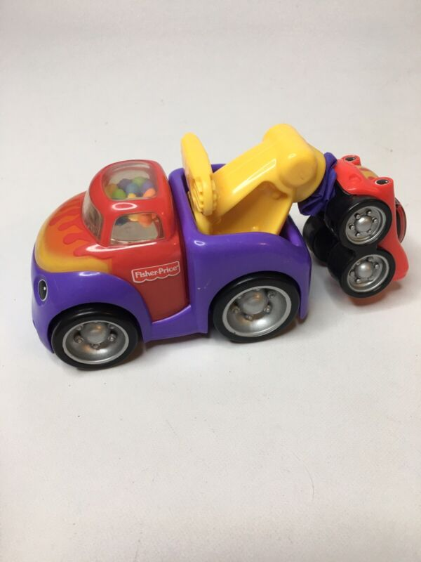 fisher price toy wrecker truck rattle baby