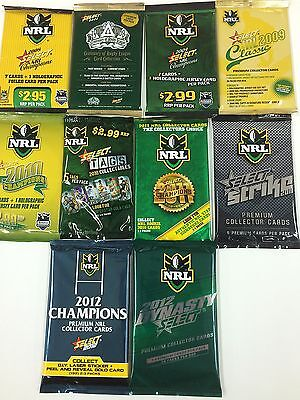 NRL CARD UNOPENED PACK COLLECTION FULL COLLECTION 1994--2012 - COLLECTABLE - $195.00