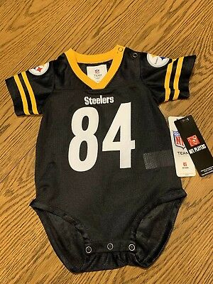 Pittsburgh Steelers NFL Baby Antonio Brown Jersey Bodysuit Size 12 Mo - NWT