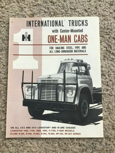 1960s  International center mounted  one man cabs, original sales literature.
